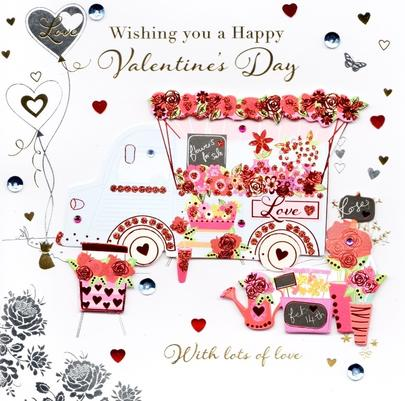 Wishing You A Happy Valentine's Day Greeting Card