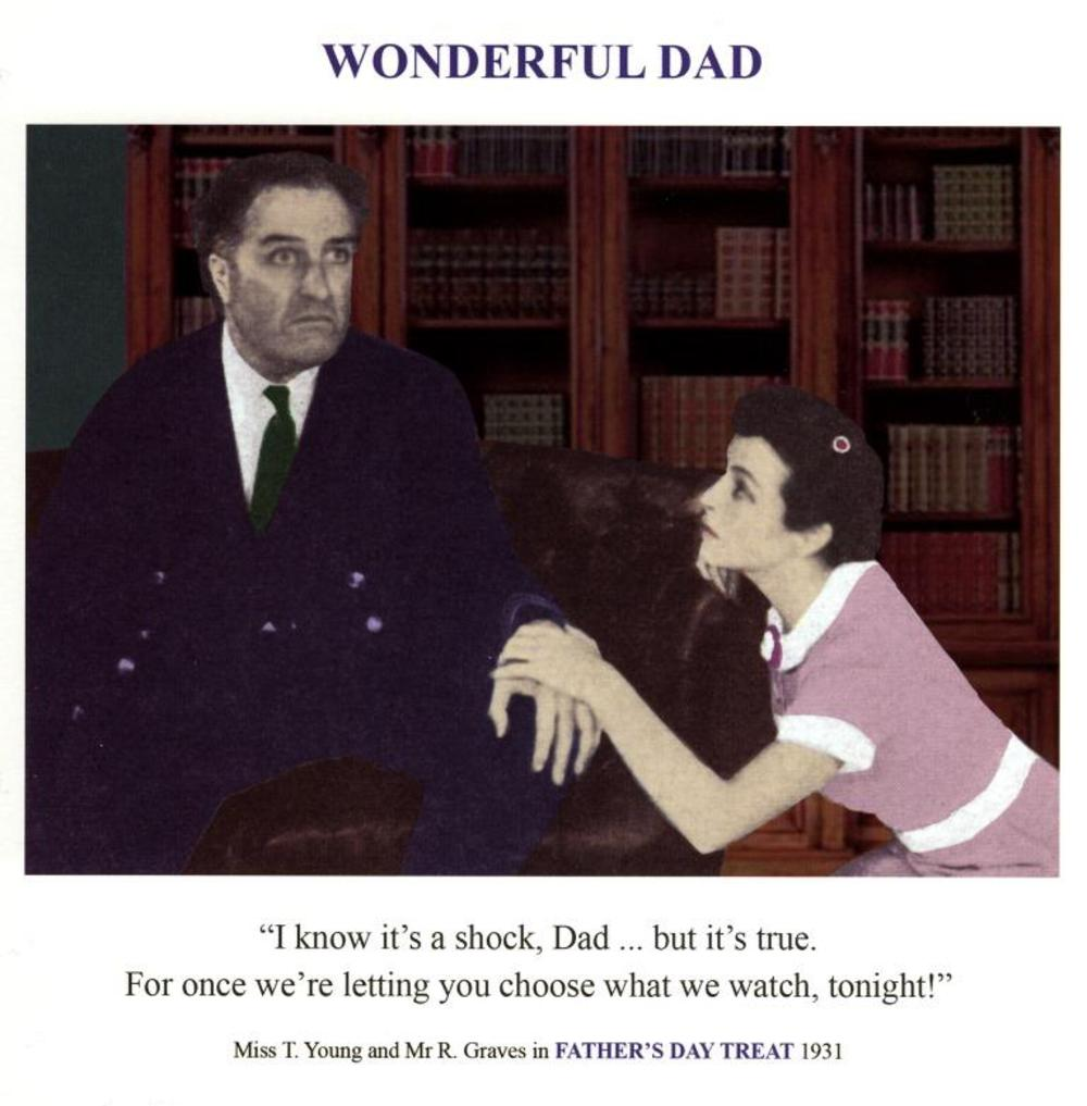 Watch TV Funny Father's Day Greeting Card
