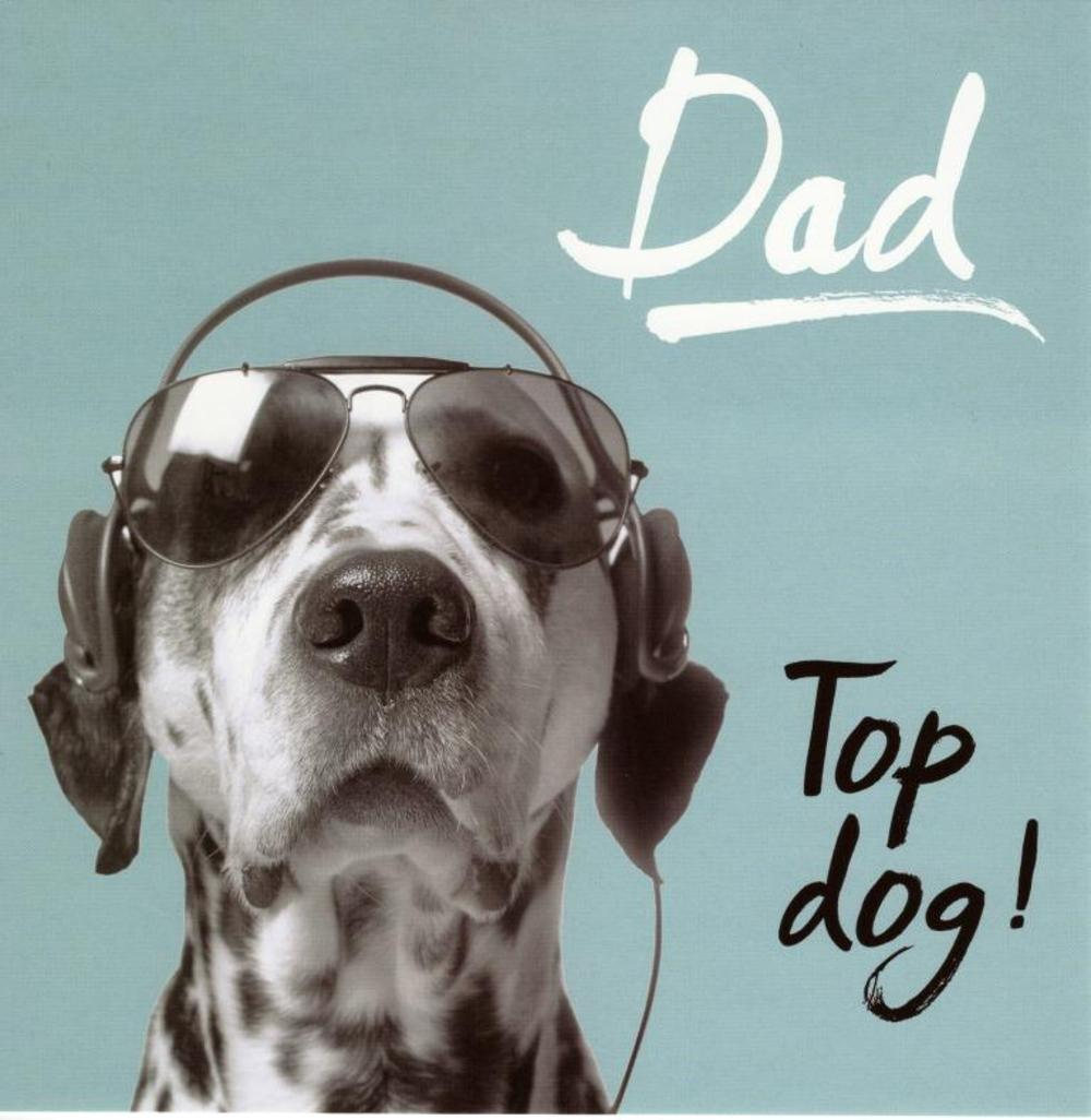 Dad Top Dog Happy Fathers Day Greeting Card Cards Love Kates