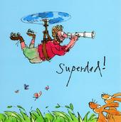 Quentin Blake Superdad Happy Father's Day Greeting Card