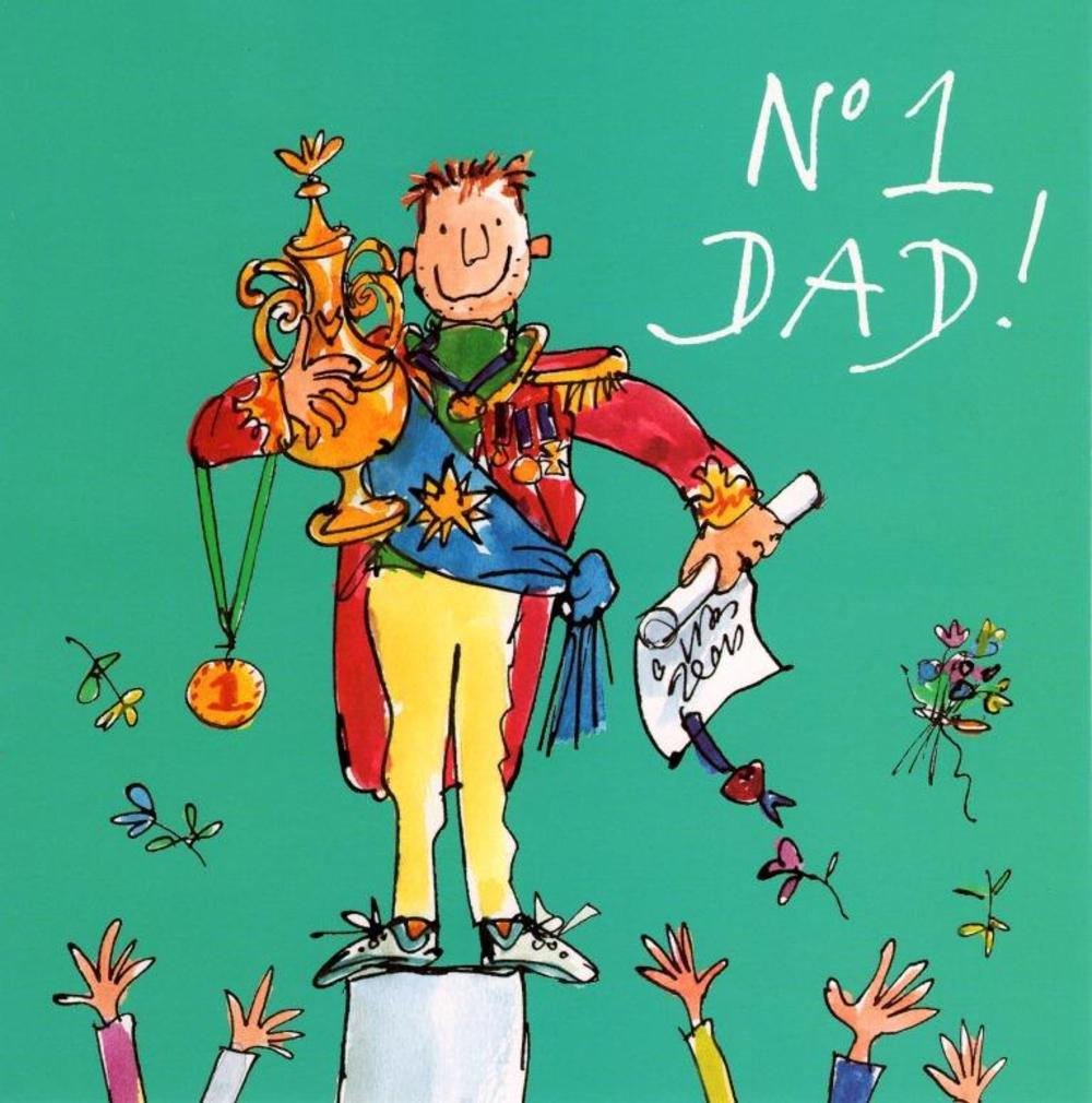 Quentin Blake No.1 Dad Happy Father's Day Greeting Card