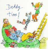 Quentin Blake Daddy Time Happy Father's Day Greeting Card