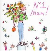 Quentin Blake No.1 Mum Mother's Day Greeting Card