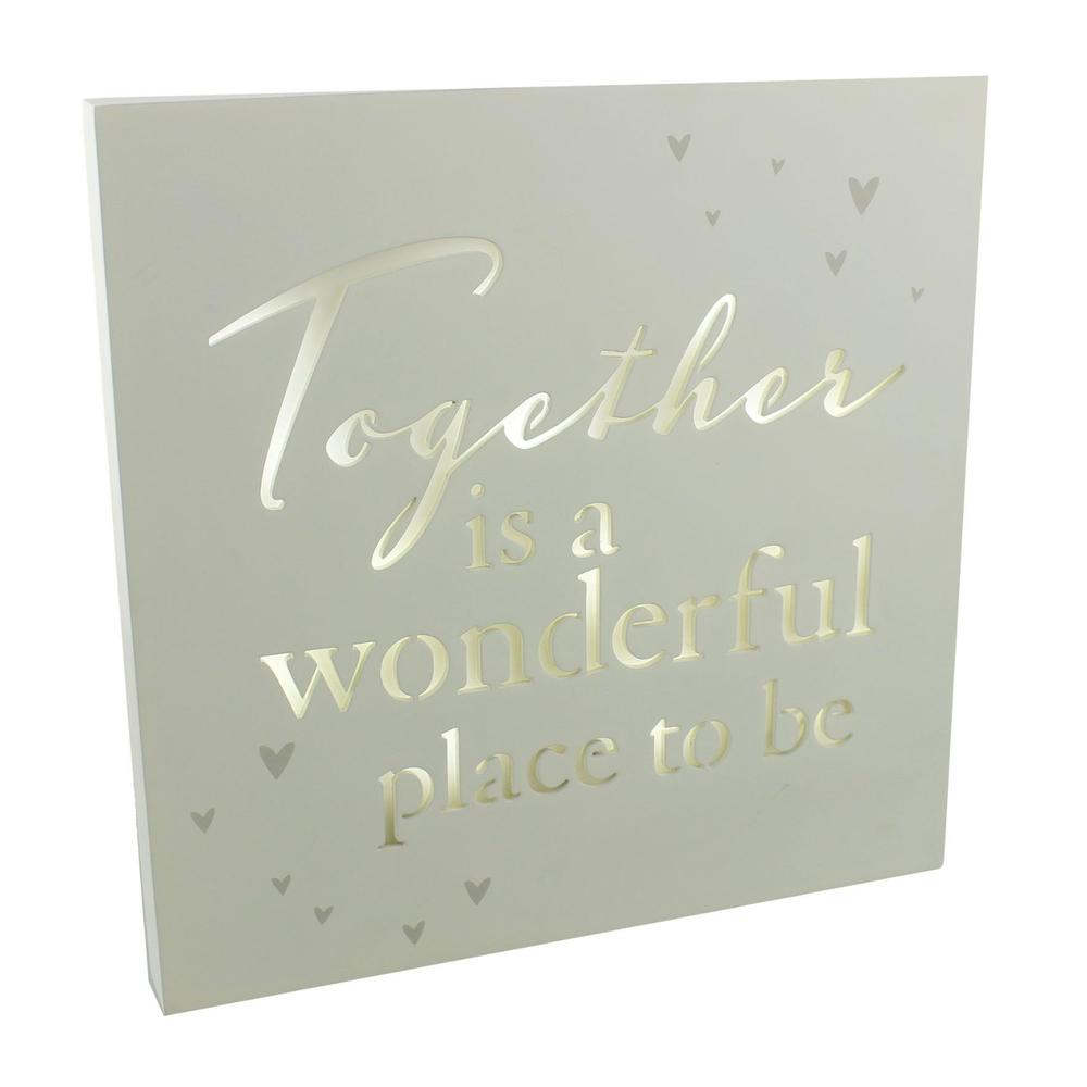 Together Is A Wonderful Place To Be Light Up Wall Plaque