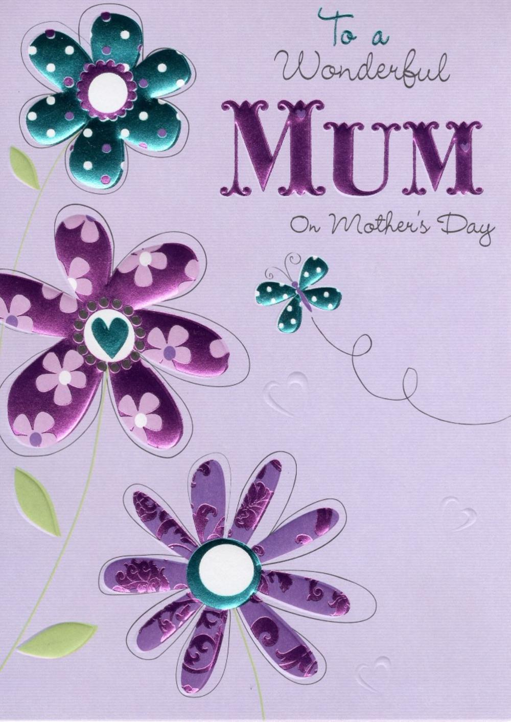 To A Wonderful Mum Mother's Day Card