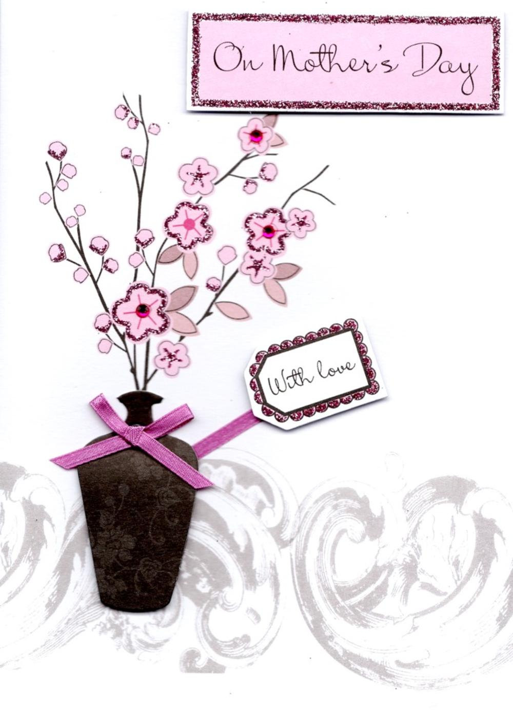 With Love On Mother's Day Embellished Card