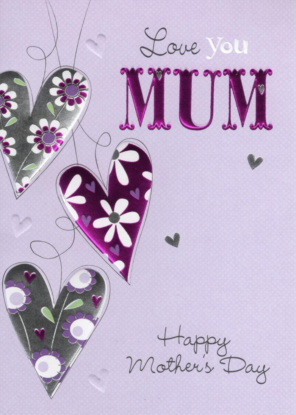 Love You Mum Happy Mother's Day Card