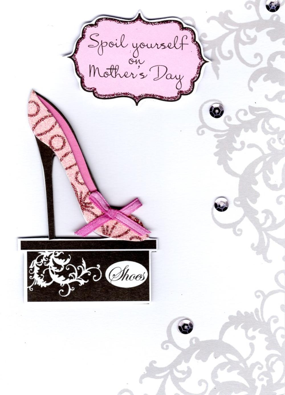 Spoil Yourself On Mother's Day Embellished Card