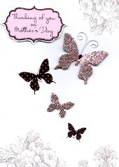Thinking Of You On Mother's Day Embellished Card