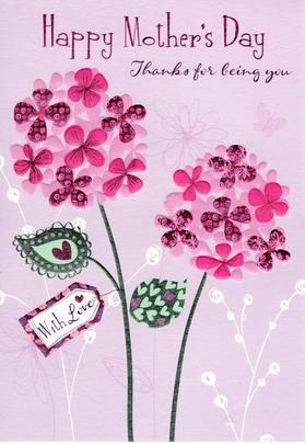 Thanks For Being You Happy Mother's Day Card