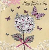 Embellished Hand-Finished Happy Mother's Day Card