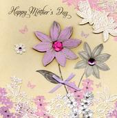 Gorgeous Hand-Finished Happy Mother's Day Card