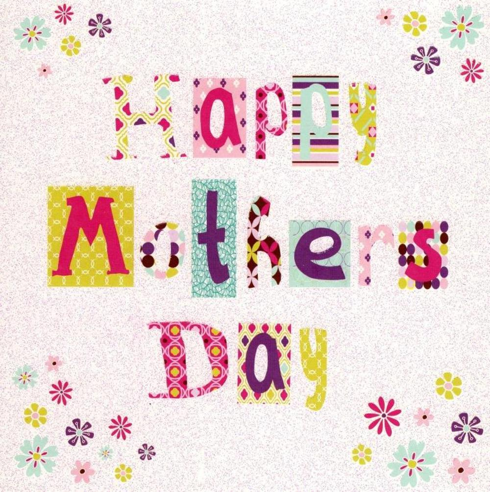 Happy Mother's Day Pretty Flittered Card