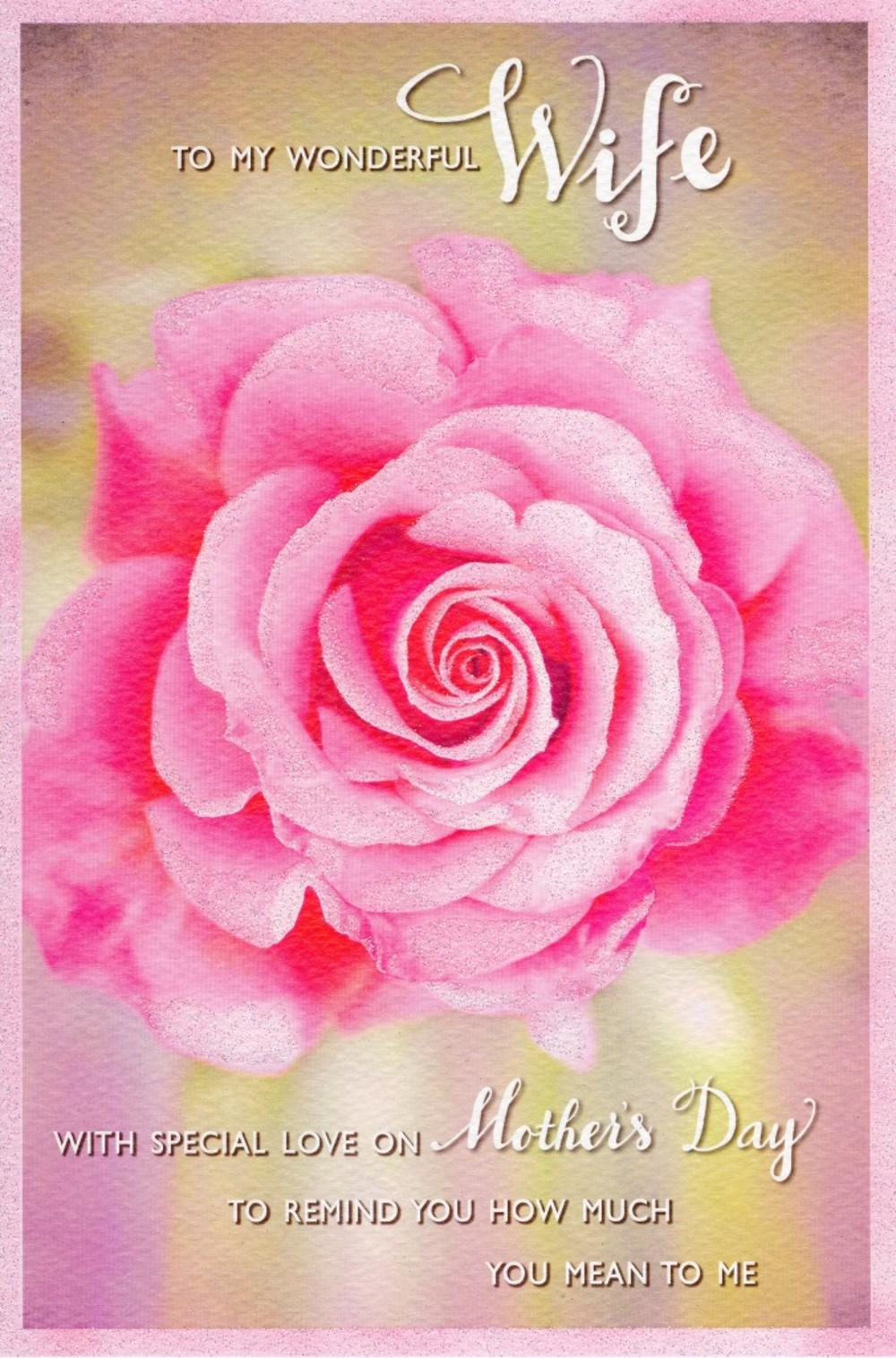 Wonderful wife happy mothers day card cards love kates wonderful wife happy mothers day card kristyandbryce Image collections