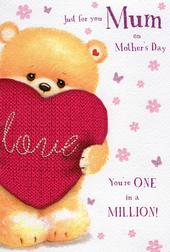 One In A Million Mum Mother's Day Card