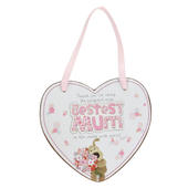 Boofle Bestest Mum Wooden Heart Shaped Plaque