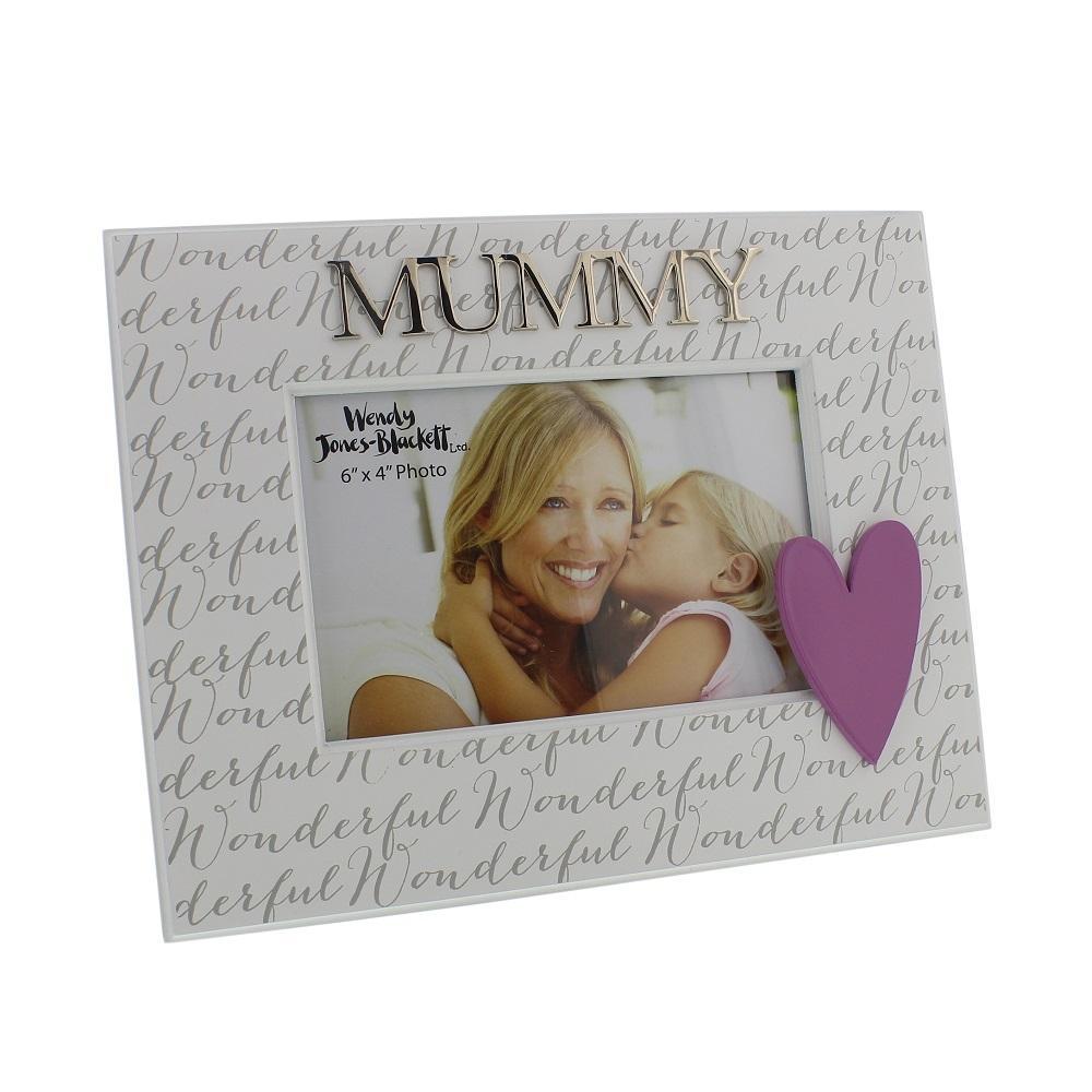 "Wonderful Mummy 6"" x 4"" Wooden Photo Frame"