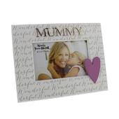 "Wonderful Mummy 6"" x 4"" Wooden Photo Frame"