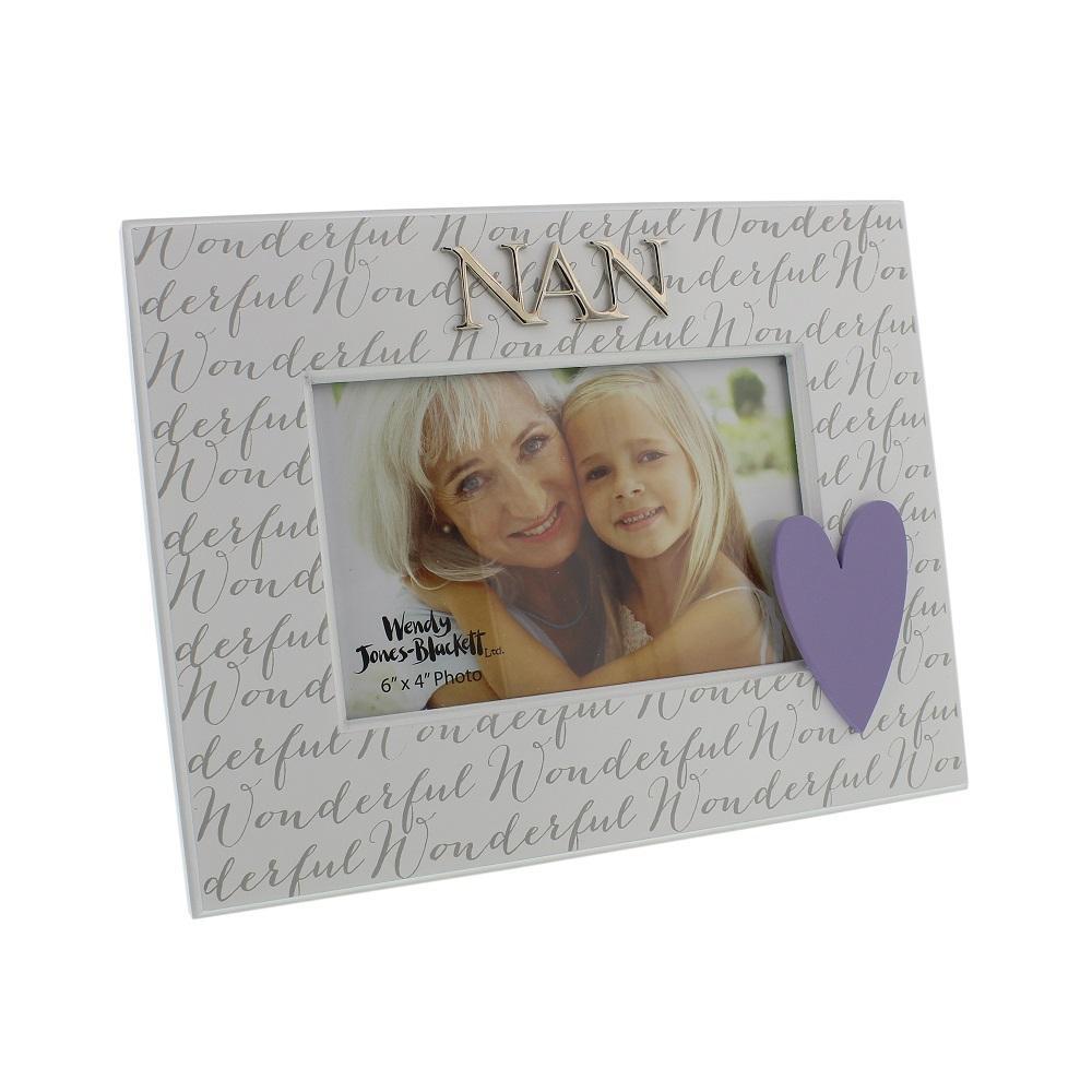 """Wonderful Nan 6"""" x 4"""" Wooden Photo Frame"""