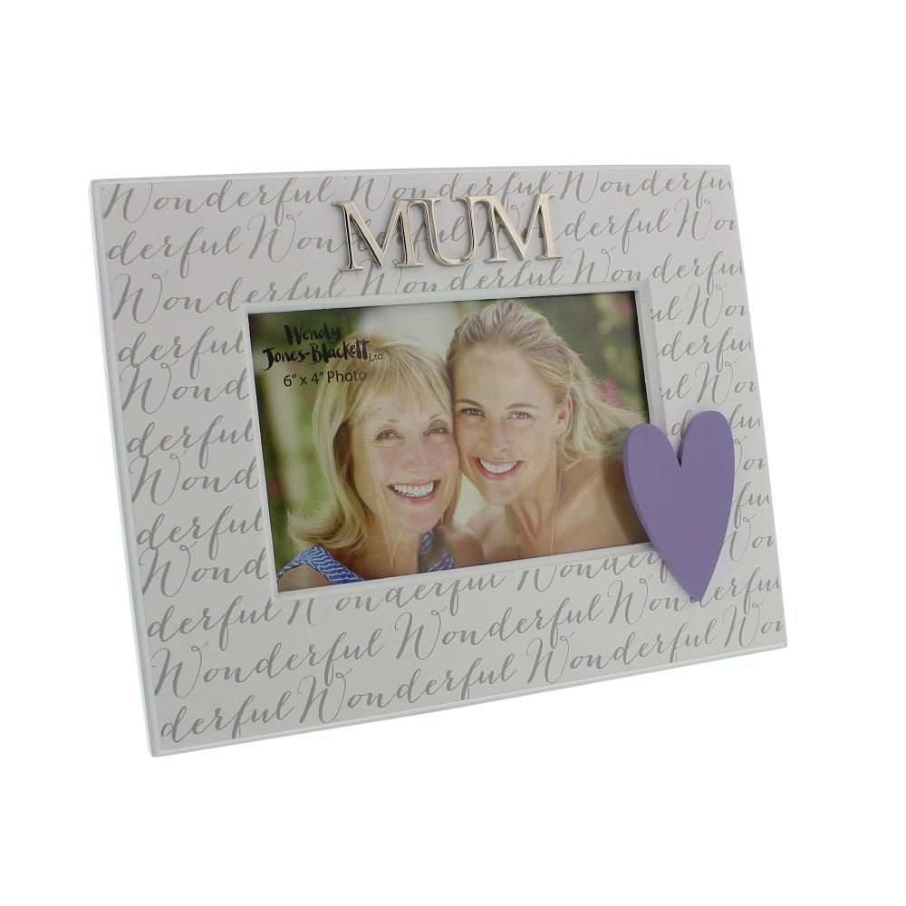 "Wonderful Mum 6"" x 4"" Wooden Photo Frame"