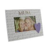 "Wonderful Mum 6"" x 4"" Wooden Photo Frame"