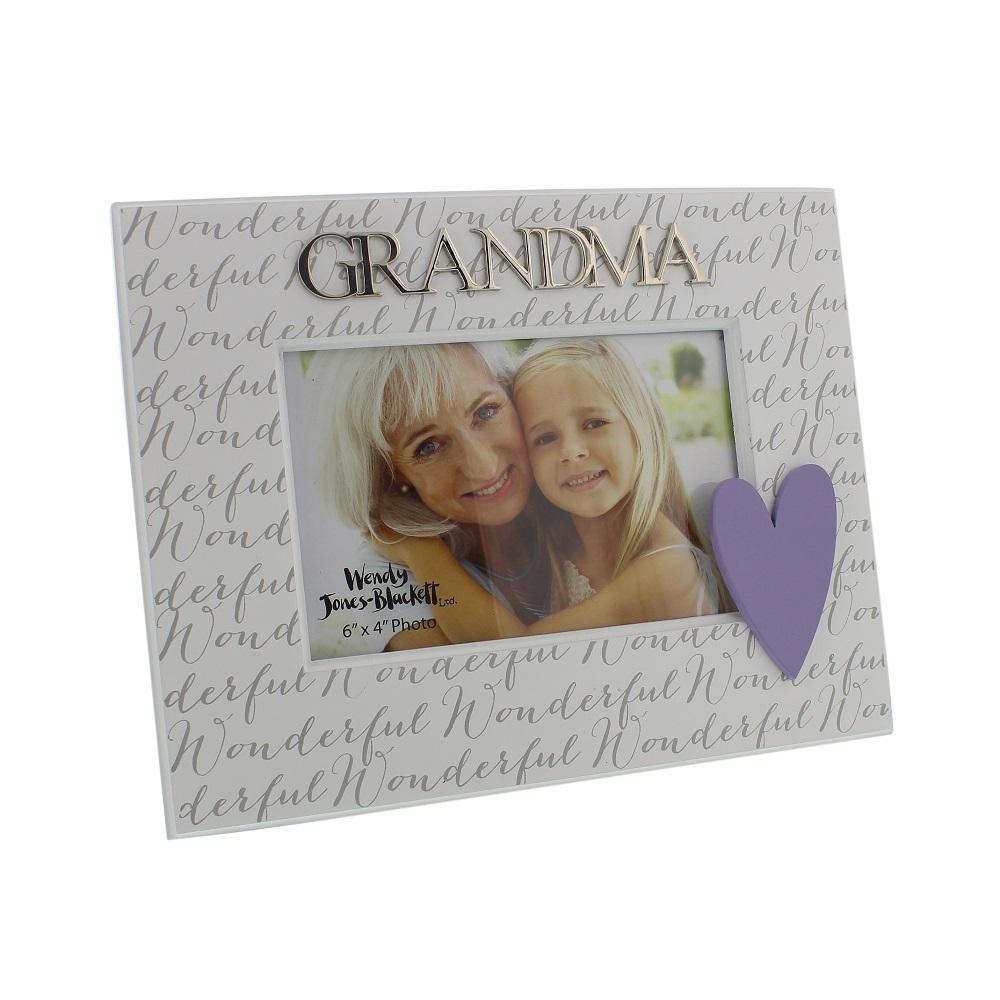 Wonderful Grandma 6 X 4 Wooden Photo Frame Gift Gifts