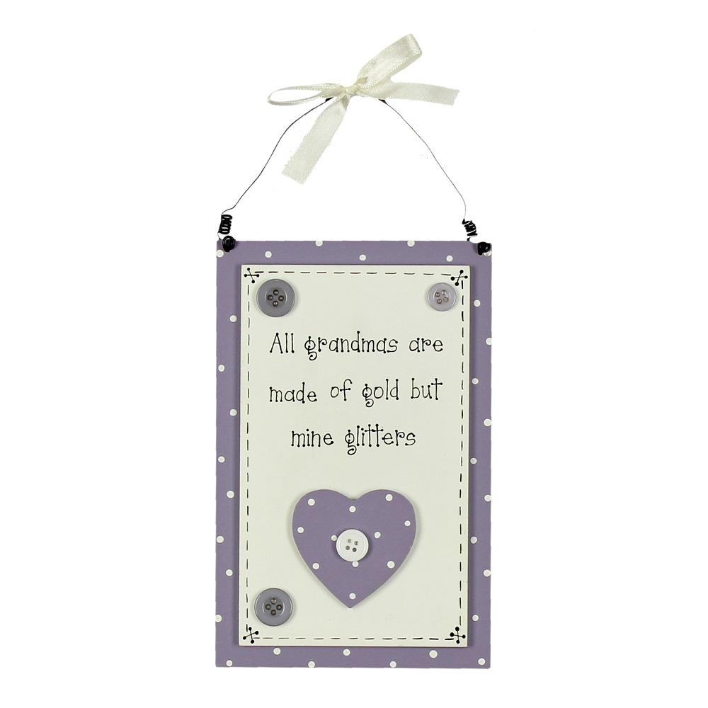 All Grandmas Made Of Gold Mine Glitters Wooden Plaque