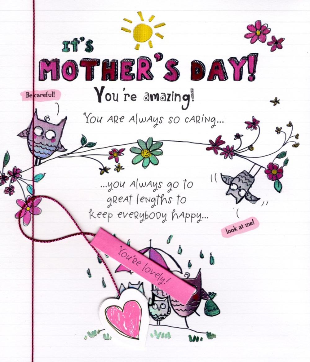 You're Amazing Like Sunshine Mother's Day Card