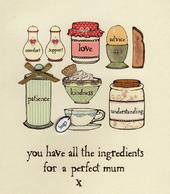 Ingredients For A Perfect Mum Mother's Day Card