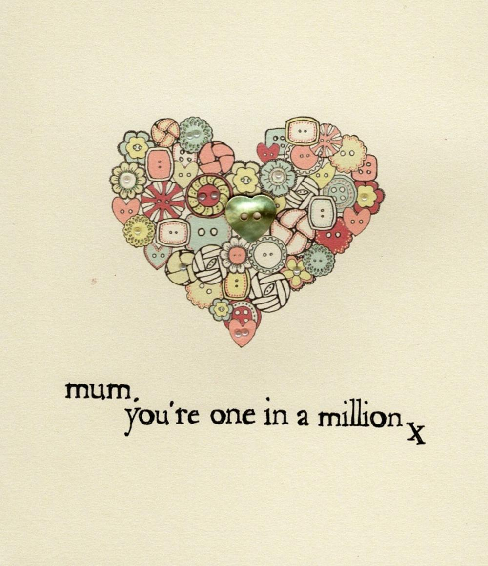 Mum You're One In A Million Mother's Day Card