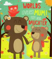 World's Loveliest Mum From Daughter Mother's Day Card