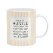 Special Auntie Sentiments From The Heart Mug In Gift Box