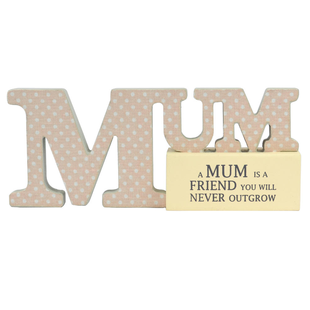 Special Mum Sentiments From The Heart Word Block