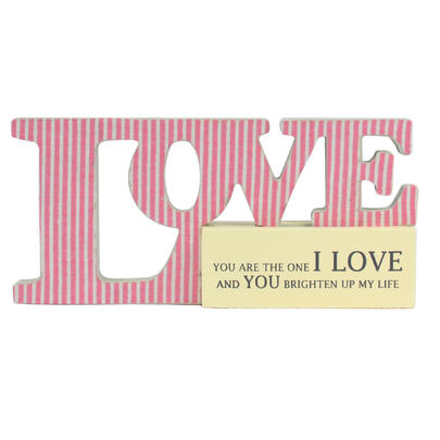 I Love You Sentiments From The Heart Word Block