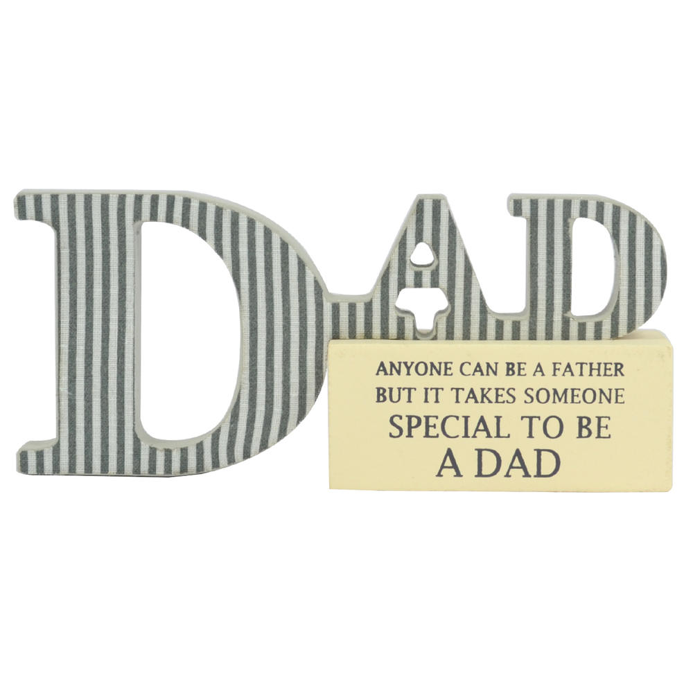 Special Dad Sentiments From The Heart Word Block