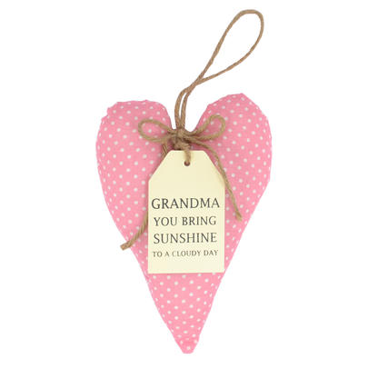 Special Grandma Sentiments From The Heart Hanging Cushion