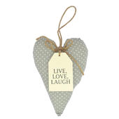Live Love Laugh Sentiments From The Heart Hanging Cushion
