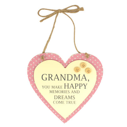 Special Grandma Sentiments From The Heart Hanging Plaque