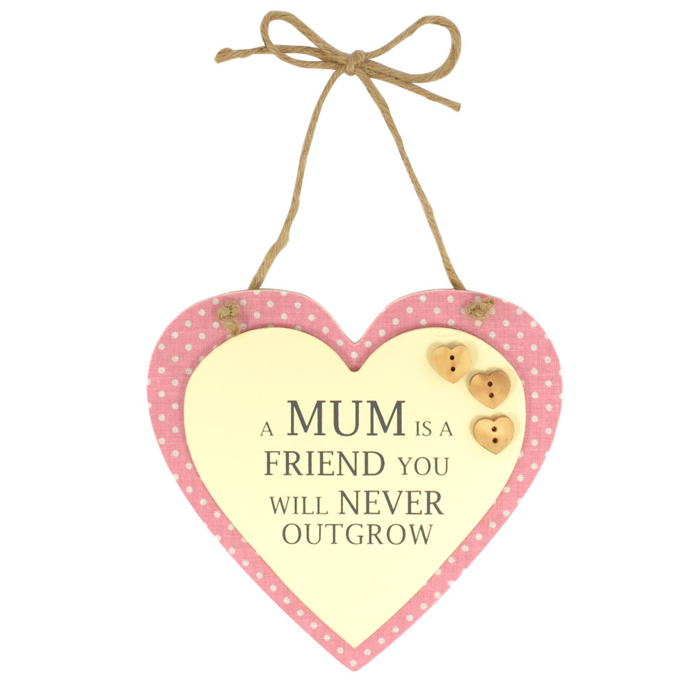 Special Mum Sentiments From The Heart Hanging Plaque