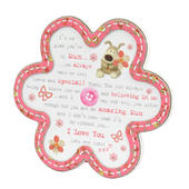 Boofle Wooden Flower Shaped Mum Poem