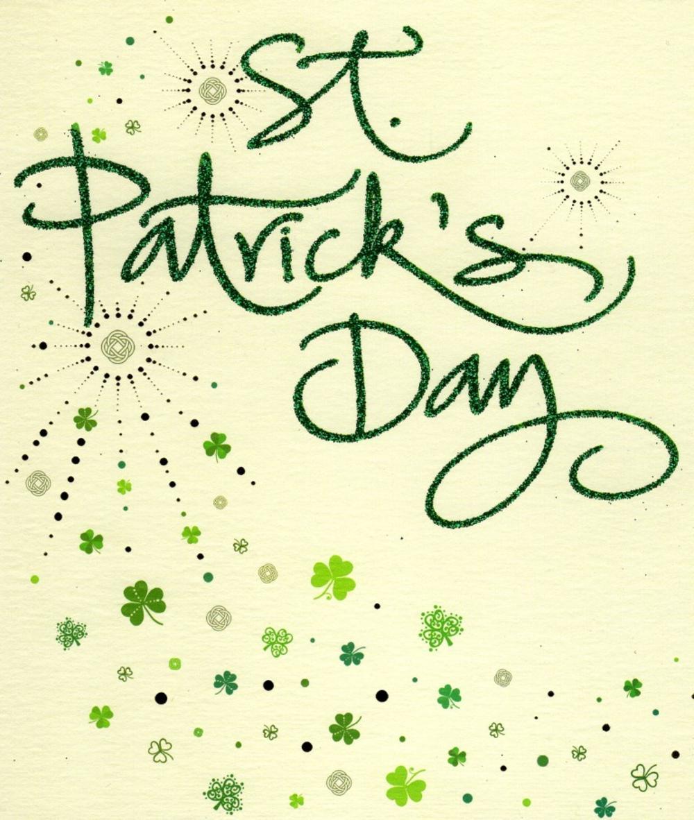 Happy St Patrick's Day Lovely Glitter Finished Card
