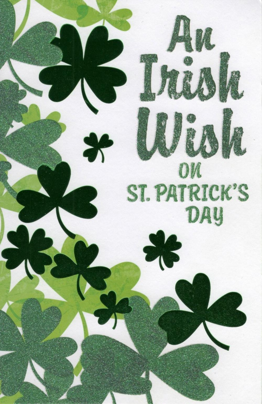 An Irish Wish On St Patrick's Day Card