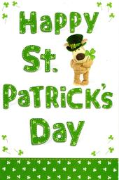 Boofle Happy St Patrick's Day Greeting Card