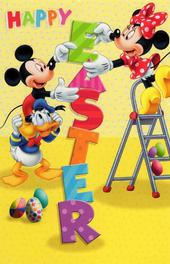 Disney Mickey & Minnie Happy Easter Greeting Card