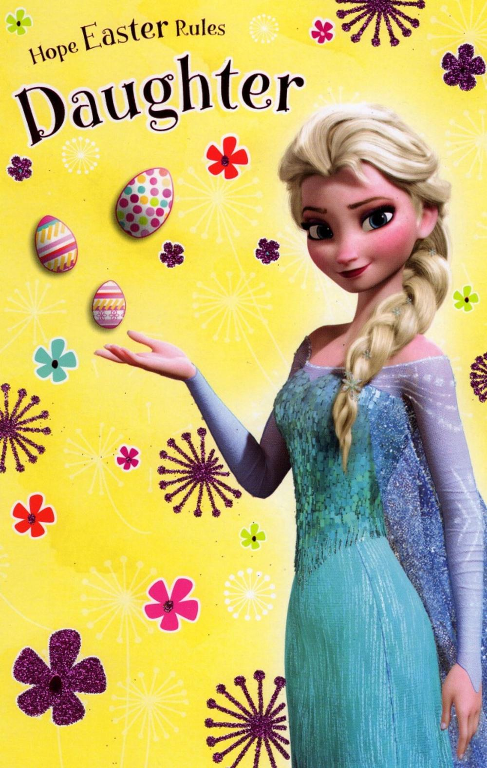 Disney Frozen Daughter Easter Greeting Card
