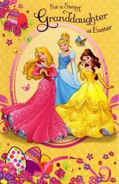 Disney Granddaughter Happy Easter Greeting Card