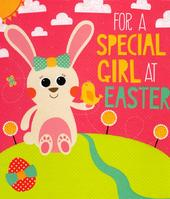 For A Special Girl At Easter Greeting Card