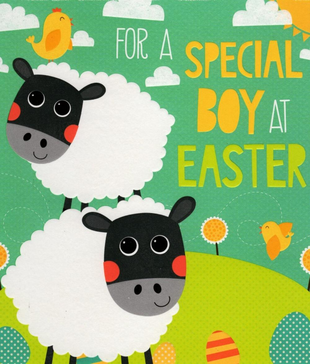 For A Special Boy At Easter Greeting Card