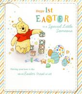 Disney Winnie The Pooh Happy 1st Easter Greeting Card