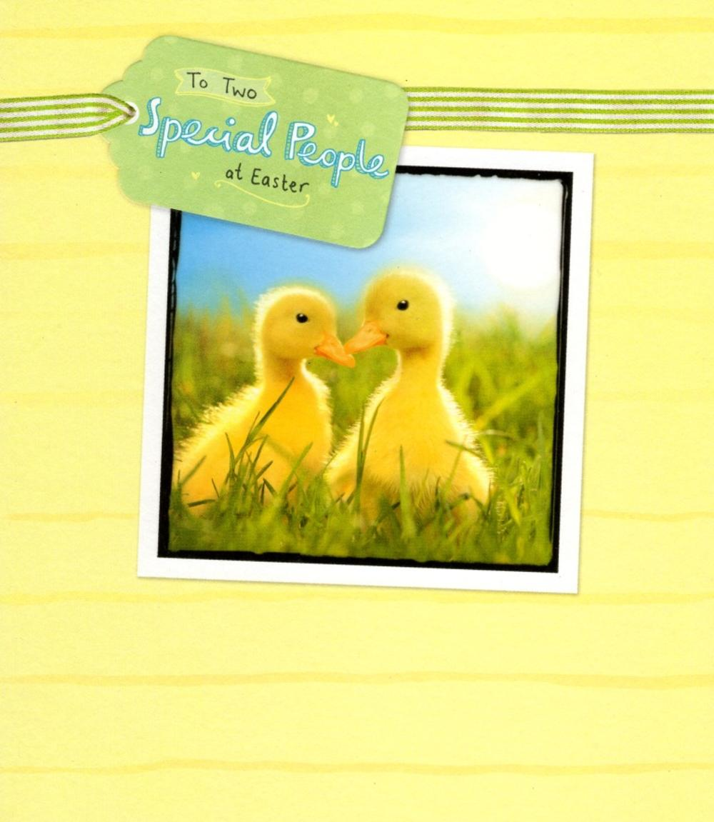 To Two Special People At Easter Greeting Card
